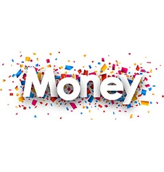 Money sign vector image