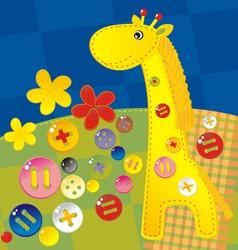 Needlework giraffe vector