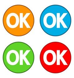 Ok buttons set vector