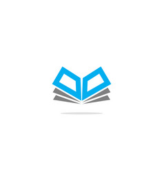 open book geometry logo vector image