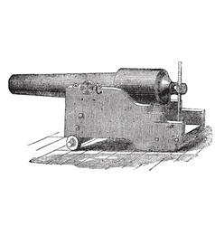 Parrott cannon vintage engraving vector