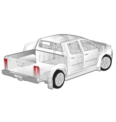 Pickup ifographics cutaway vector image vector image