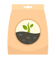 Plant seed pack icon flat style vector