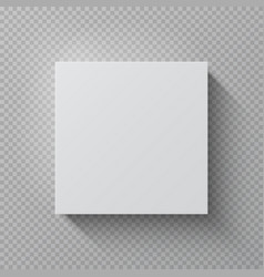 realistic cardboard box square white mockup paper vector image