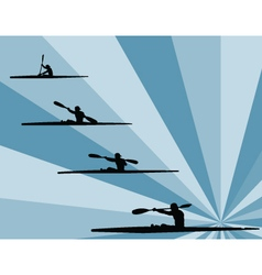 rowing with background vector image