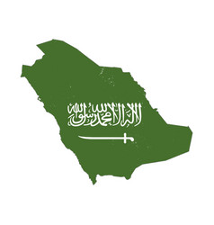 saudi arabia country silhouette with flag vector image