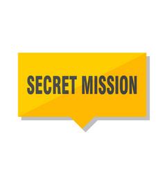 Secret mission price tag vector