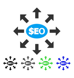 Seo marketing flat icon vector