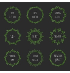 Set of floral wreathes vector image