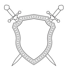shield and swords icon vector image