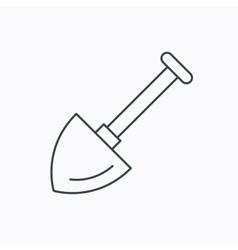 Shovel icon Garden equipment sign vector image
