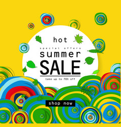 special offer summer sale vector image