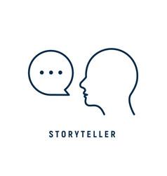 Storyteller brand digital logo icon story teller vector