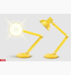 Task table desk lamp vector