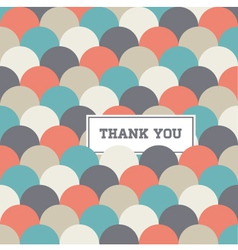 thank you card circle japanese background vector image vector image