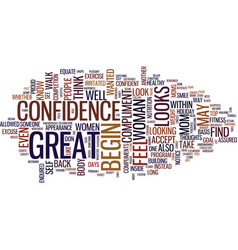 The confidence walk text background word cloud vector