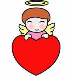 valentine angel vector image