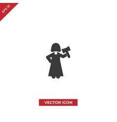 woman judge icon vector image