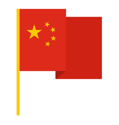 chinese national flag icon isolated vector image vector image