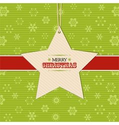 Christmas star label background vector image