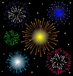 Colorful Firework set vector image vector image