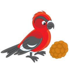 crossbill vector image