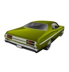 Green muscle car vector