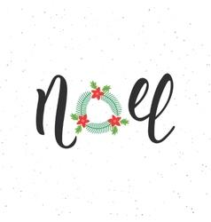 Noel hand written modern brush lettering vector image