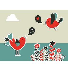 social media birds communication vector image
