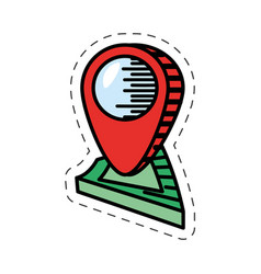 cartoon pointer map navigation location vector image