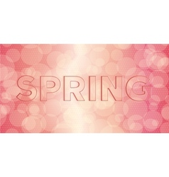 Embossed inscription spring vector image vector image