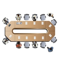 Office meeting top view set 3 vector image vector image