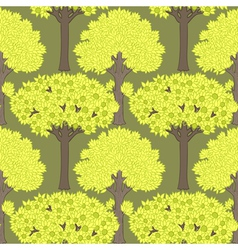 pattern with trees vector image vector image
