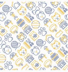 pet shop seamless pattern vector image
