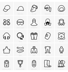 Ppe icons vector