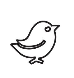 Black contour birds a simple of a vector