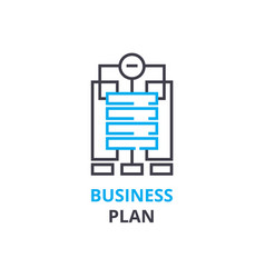 business plan concept outline icon linear sign vector image