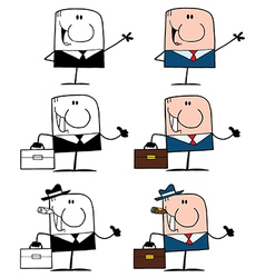 Doodle Business Men- Collection vector image