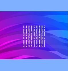purple-blue futuristic digital wave vector image vector image
