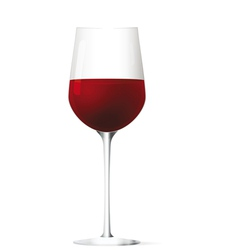 red vine glass vector image