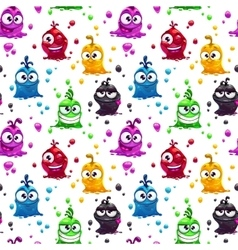 Seamless pattern with funny jelly characters vector image vector image