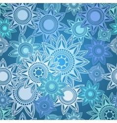 Seamless texture of abstract circles vector image vector image