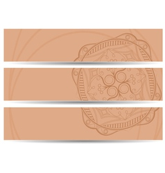 set of horizontal banners hand drawing EPS10 vector image