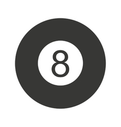 ball number eight billiard icon vector image
