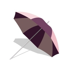 beach umbrella with shadow isolated on vector image vector image
