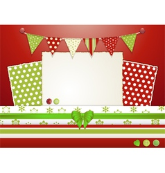 Christmas scrapbooking layout vector image