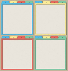 Colorful papers templates vector