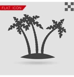 Tropical palm trees Flat Style with red vector image