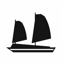Vietnamese junk boat icon simple style vector image vector image