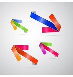 Abstract 3d Arrow Icon vector image